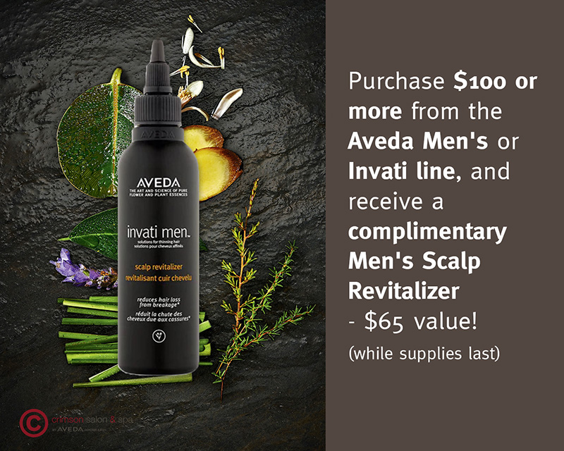 Aveda Men's and Invati Special
